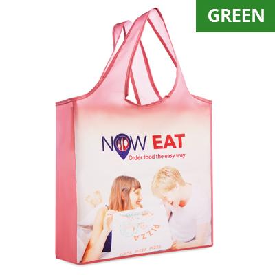 sac à provisions pliable en RPET avec pochette